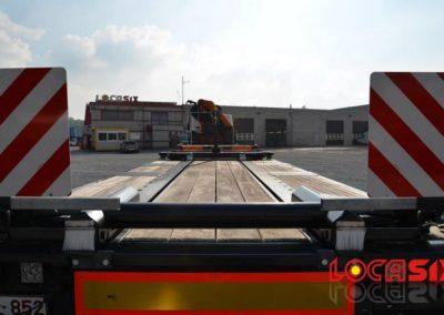 Vue arrière du nouveau camion Locasix
