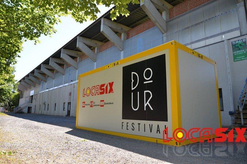 Des modules Locasix pour le festival de Dour