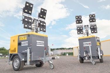 Groupe électrogène d'éclairage sur remorque