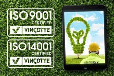Locasix est certifié ISO 9001 et ISO 14001