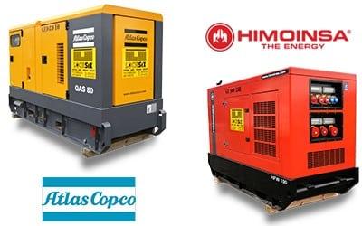 Groupes électrogènes en location (Atlas Copco + Himoinsa)