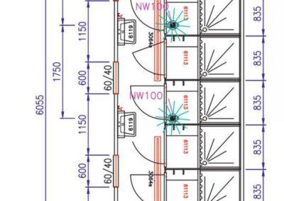 Module de douche CD6 - Plans