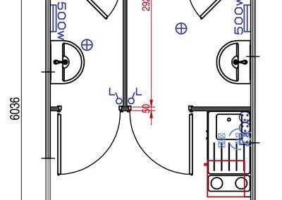 Plan - Module sanitaire autonome ASHFK