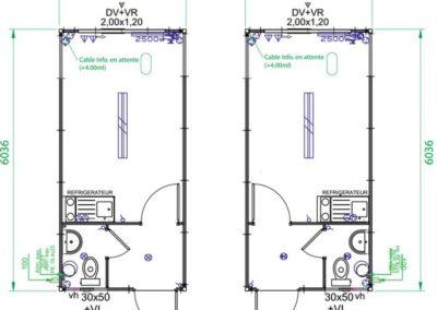 Module sanitaire autonome ASKW - Plans