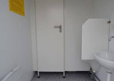Intérieur du module sanitaire CS2