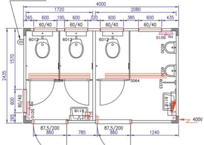 Plan du module sanitaire CS3