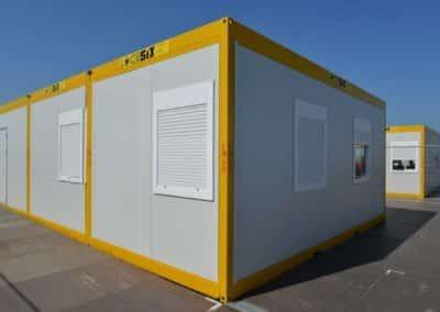 Modules de containers de bureau Locasix pour le festival de Dour