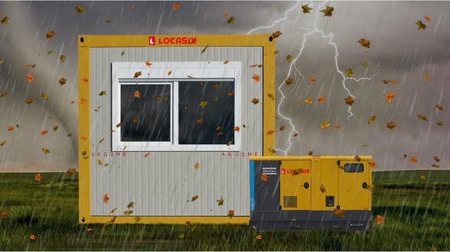 Module et groupe Locasix lors d'intempéries - assurance Locasix