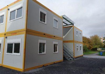 Utilisation de modules habitables pour une école