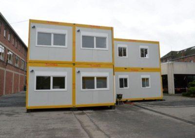 école en travaux : modules habitables
