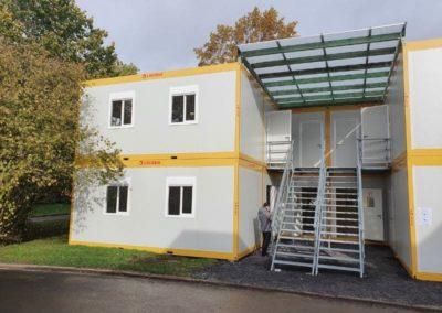 Escalier des modules habitables à Leuze