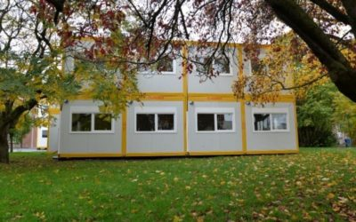 Un bâtiment temporaire en modules pour le CESP Leuze